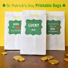 free st patrick u0027s day treat bag printables make life lovely