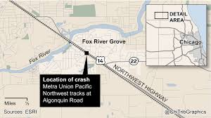 Chicago River Map by Map Location Of 1995 Fox River Grove Crash Chicago Tribune