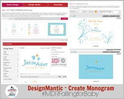 designmantic download diy a baby monogram for your new arrival free
