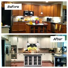 kitchen cabinets refinishing old kitchen cabinets before and