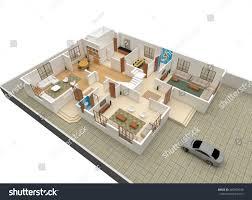 3d floor plan rendering 3d floor plan rendering building stock illustration 480409540