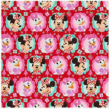 disney minnie mouse christmas wrapping paper 70 sq