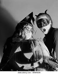 Halloween Costumes 1950s Cat Costume Black White Stock Photos U0026 Images Alamy