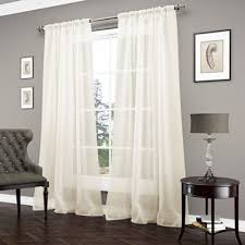 Bed Bath And Beyond Window Curtains Buy Sheer Window Curtains Panels From Bed Bath Beyond Ivory