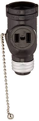 light socket outlet adapter leviton 1406 660 watt 125 volt two outlet with pull chain socket