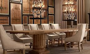 dining room table decor and the whole gorgeous dining restoration hardware if only i had money i would