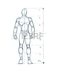 hand drawn vector illustration or drawing of a human figure sketch