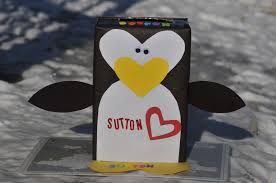 Valentine Decorated Boxes Ideas by Penguin Craft Valentine U0027s Day Box Mommyapolis