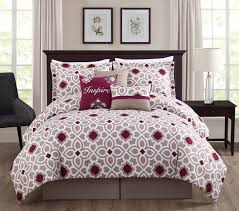 7 piece inspire berry taupe comforter set
