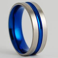 blue titanium wedding band mens wedding bands ideas collections