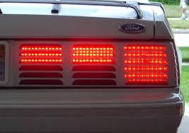 sn95 mustang tail lights 83 93 mustang rear led tail light kit