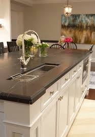Soapstone Kitchen Sinks Soapstone Countertops Kitchen Transitional With Industrial Pendant