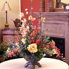 Silk Floral Arrangements Interesting Silk Flower Arrangements For Dining Room Table 93 In