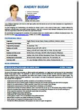 resume look does your software developer u0027s cv look professional andriy buday