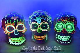 Glow In The Dark Halloween Fabric by Glow In The Dark Sugar Skull Ilovetocreate