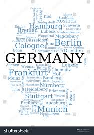 Schweinfurt Germany Map by Germany Outline Map Made City Names Stock Illustration 109000181