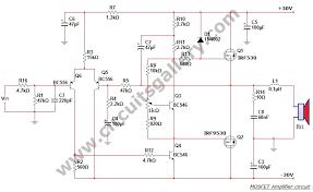 50 watt power mosfet amplifier circuit diagram circuits gallery