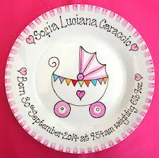 baby plates gift plate for new baby girl pram birth plate personalised baby
