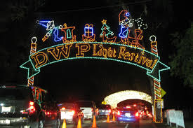dwp holiday light festival in griffith park