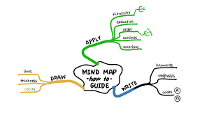 educational example of mind map performed as animated drawing