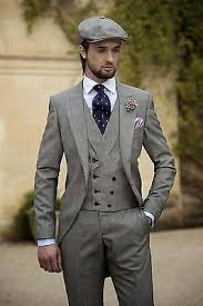 mens light gray 3 piece suit 3 pieces black morning suits with light gray vest mens wedding groom