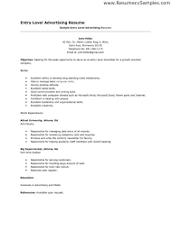 Resume For Job Entry Level Resume Objective Entry Level Accounting Resume