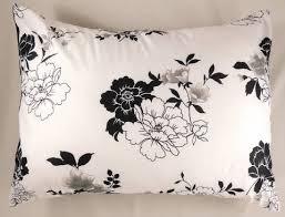 Black Floral Bedding Mainstays Black And White Floral Bed In A Bag Comforter Set