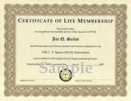 life membership certificate template membership certificate