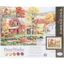 amazon paint by numbers black friday plaid paint by number kit cottage mill by plaid products
