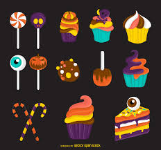 halloween candy cake halloween candy treats illustration vector download