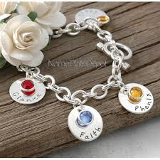 bracelets with birthstones personalized grandmother s bracelet with upto 11 grand children