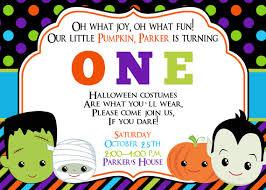 first birthday halloween party invitation halloween birthday