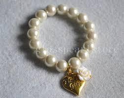 flower girl charm bracelet flower girl bracelet gold etsy