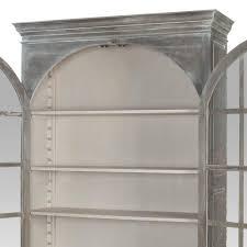 guildmaster manor arched door display cabinet industrial