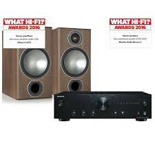 onkyo a 9010 with monitor audio bronze 2 speakers
