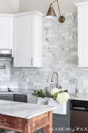 countertops that go with white cabinets gray and white and marble kitchen reveal maison de pax