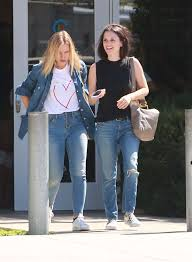 rachel bilson and kristen bell in jeans out in la