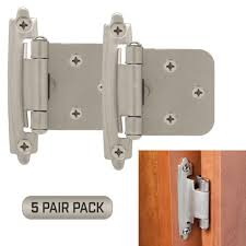 hinges for inset kitchen cabinet doors classic hardware kitchen cabinet door hinges 5 pair pack 10 pieces self closing satin nickel