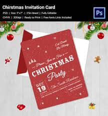 christmas invitation template 27 free psd eps vector ai