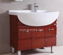 Oak Bathroom Cabinets by Wood Luxury Antique Red Oak Bathroom Vanity With Metal Legs B 8680