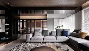 Apartment Interior Design Black Acrylic Glass And Stone Form This Dark And Sophisticated