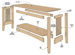 Oak Sofa Table Oak Sofa Table Woodsmith Plans