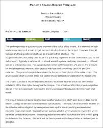 Project Management Status Report Template Excel Weekly Status Report Template 12 Free Word Documents