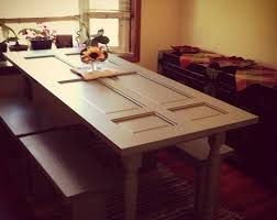 How To Make Dining Room Table by How To Make A Dining Table Out Of A Old Door Diy And Crafts