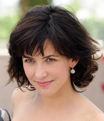 grey hair in 40 s layered short cut for women over 40 sophie marceau hairstyles