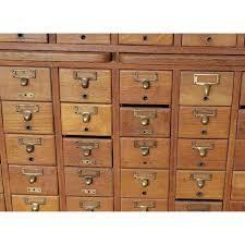 index card file cabinet vintage quartered oak gaylord bros inc 60 drawer library index card