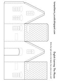 printable model house template printable house can create a whole town craft supplies