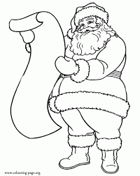Christmas Santa Claus List Gifts Coloring