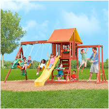 Playsets Outdoor Backyards Charming Kids Swing Sets Spectacular On Modern