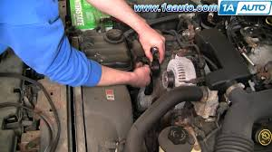 how to install repair replace engine belt idler pulley lincoln